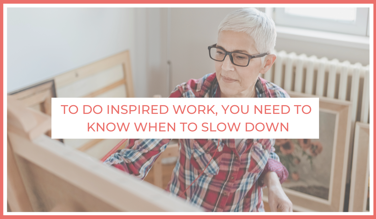 To do inspired work, you need to know when to slow down | Joe Sanok | Thursday is the new Friday